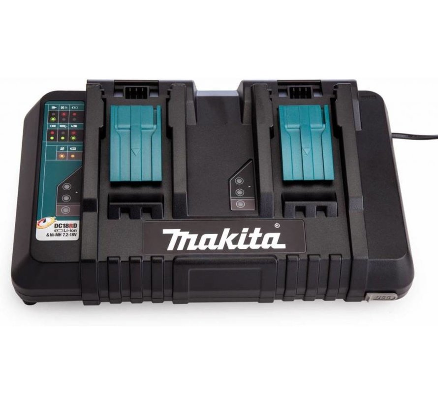 Makita 18V Li-Ion accu 6 delige combiset (3x 5.0Ah accu) in tas
