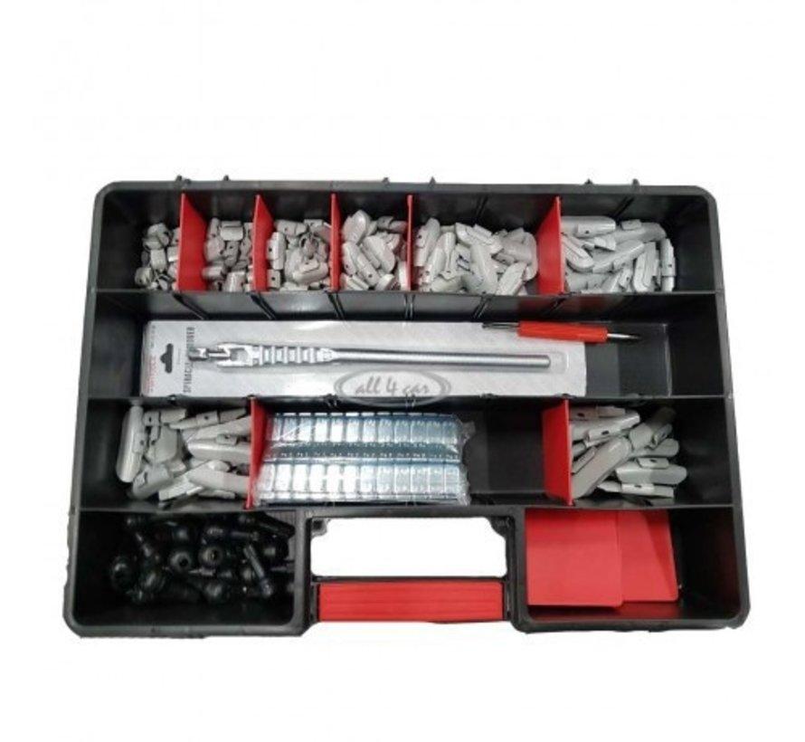 TCE Basiskoffer met gewichten en ventielen