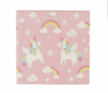 Sass & Belle Paper napkins: Unicorn 20pc