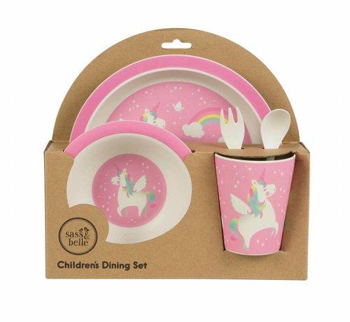 Sass & Belle Geschenkverpakking eetset eenhoorn