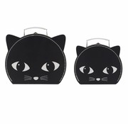 Sass & Belle Set of 2 Suitcases Cat