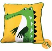 Rex London Kussen Harry de krokodil - kleurrijke dieren