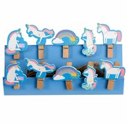 Rex London Wooden pegs unicorn