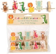 Rex London Wooden pegs: colorful creatures