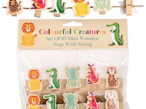 Rex London Wasknijpertjes kleurrijke dieren