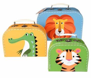 Rex London Set van 3 koffers- Kleurrijke dieren