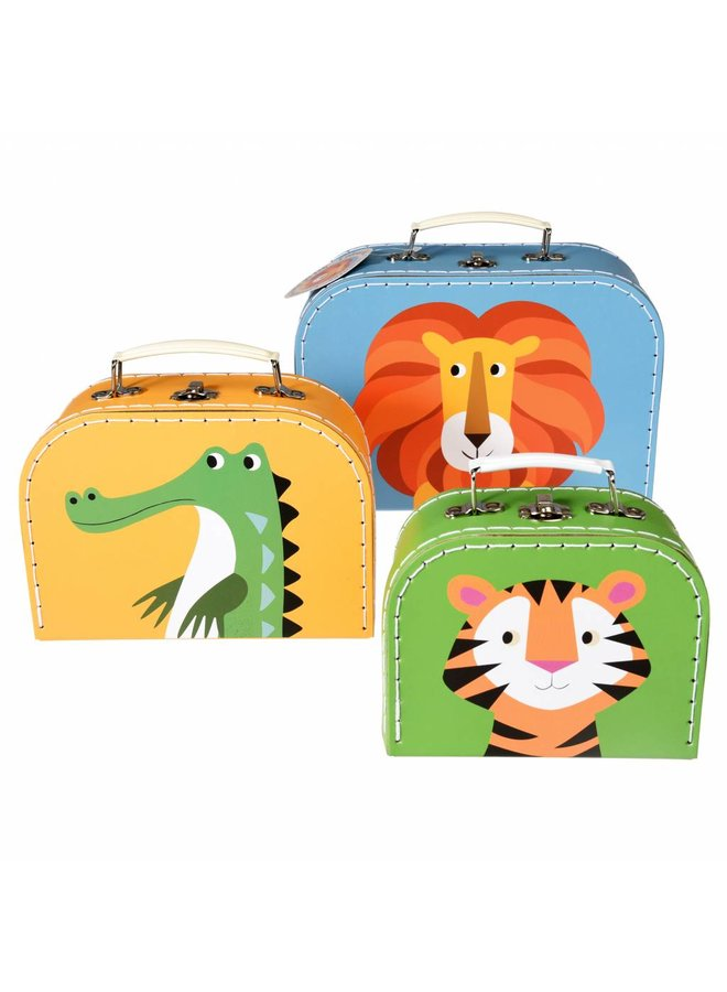 Set of 3 cases: Colorful animals