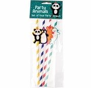 Rex London Party Animals party straws-4pc
