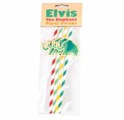 Rex London Straws  Elvis the elephant 4pc