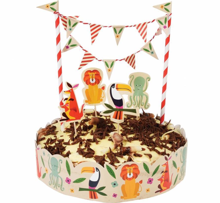 Cake slinger kleurrijke dieren