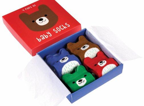 Rex London Socks: Bears in gift box 4 pairs