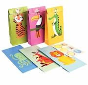 Rex London Party Bag kleurrijke dieren 6 st