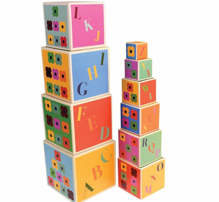 Stacking blocks colorful creatures