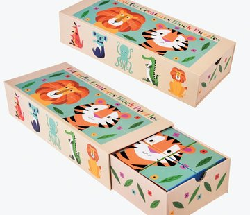Rex London Block puzzle colorful creatures