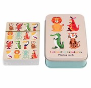 Rex London Playing cards colorful creatures