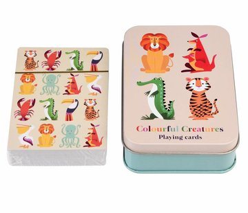 Rex London Speelkaarten kleurrijke dieren