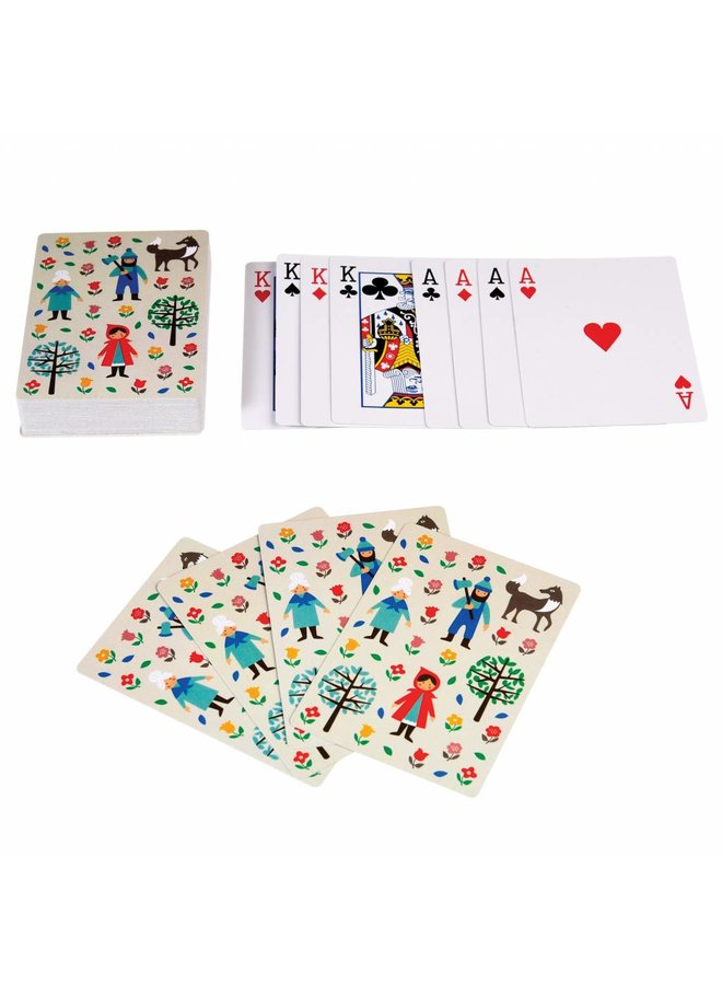 Playing cards Red Riding Hood