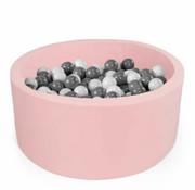 Misioo Ballenbad Misioo L 100*40 pastelroze-400 ballen pearl