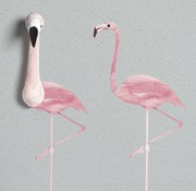 Wild & Soft Muursticker: roze flamingo Wild & Soft