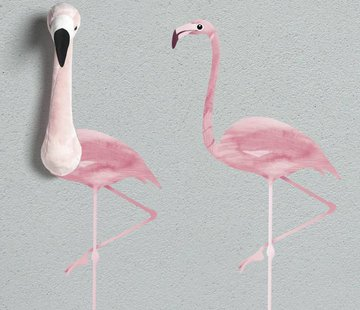 Wild & Soft Wallsticker, pink flamingo