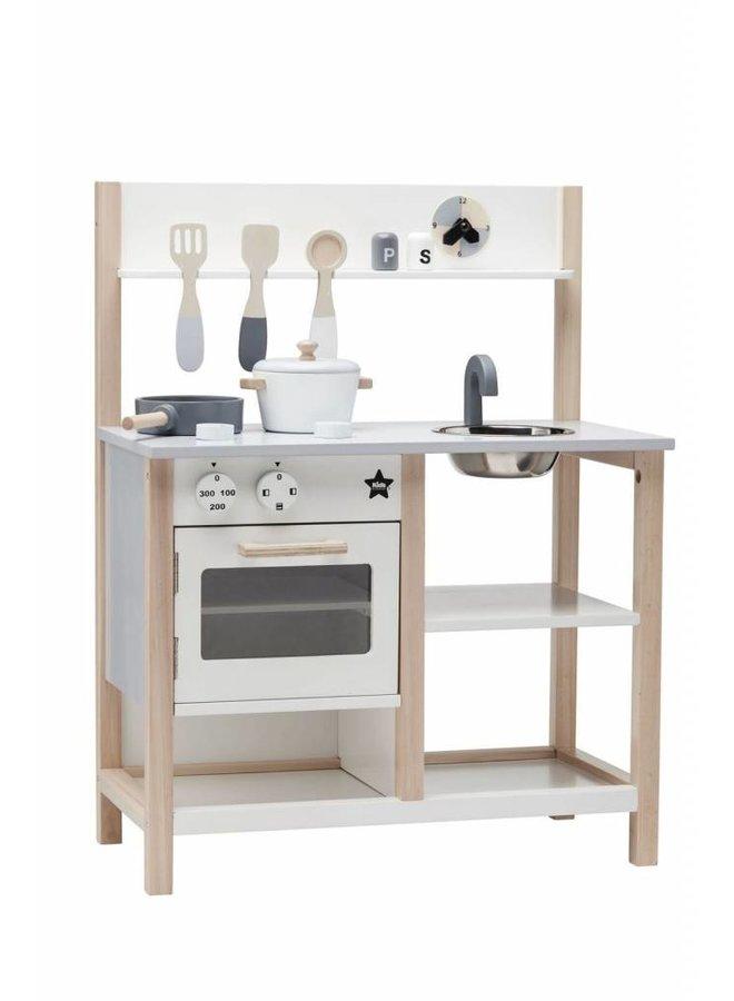Play kitchen, natural/white