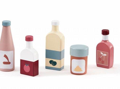 Kid's concept Bottle set, wood, 5pcs