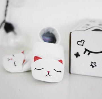 First baby shoes Geschenkverpakking, zachte babyschoenen Kat
