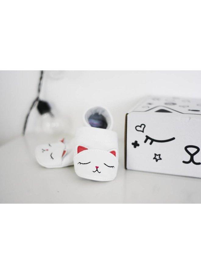 Geschenkverpakking, zachte babyschoenen Kat