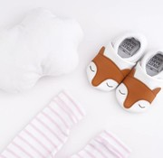 First baby shoes Giftbox: soft sole baby shoes fox