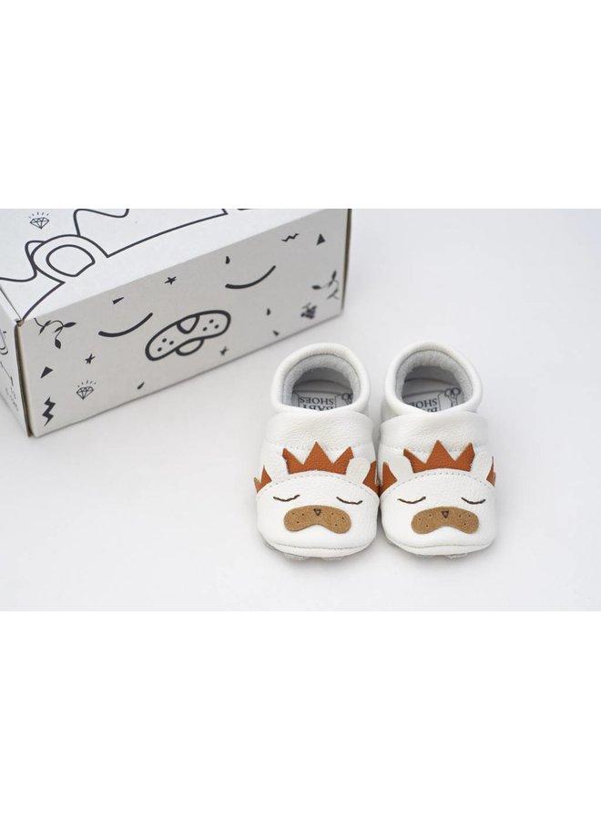 Geschenkverpakking: babyschoenen Leeuw