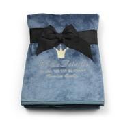 Elodie Details Pearl Velvet blanket, Pretty Petrol
