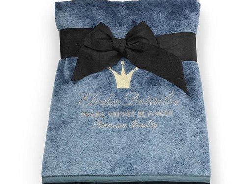 Elodie Details Pearl Velvet deken, Pretty Petrol