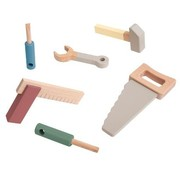 Sebra Wooden tool set-warm grey-Sebra