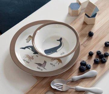 Sebra Melamine bord Artic Animals Sebra