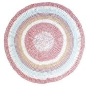 Sebra Crochet floor mat-pink-Sebra