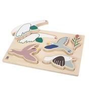 Sebra Wooden chunky puzzle Singing bird Sebra