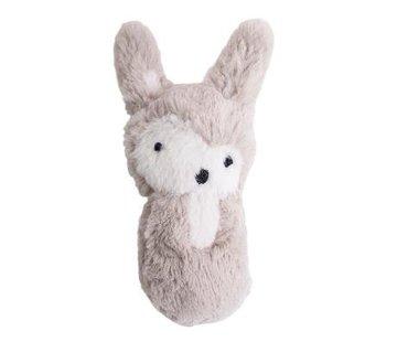 Sebra Rammelaar,beige pluche konijn