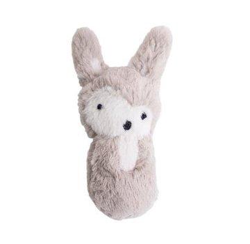 Sebra Plush rattle, rabbit, feather beige