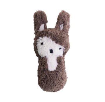 Sebra Plush rattle, rabbit, soil brown