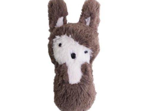 Sebra Rammelaar,bruin pluche konijn