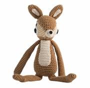 Sebra Crochet animal, deer, light brown
