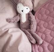 Sebra Knuffel, vintage roze pluche konijn