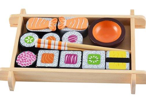 Magni Wooden sushi set, 3y+