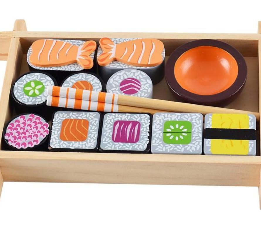 groothandel verkoop officiële afbeeldingen officiële afbeeldingen Houten sushi set-3j+ - Rascals in Eden
