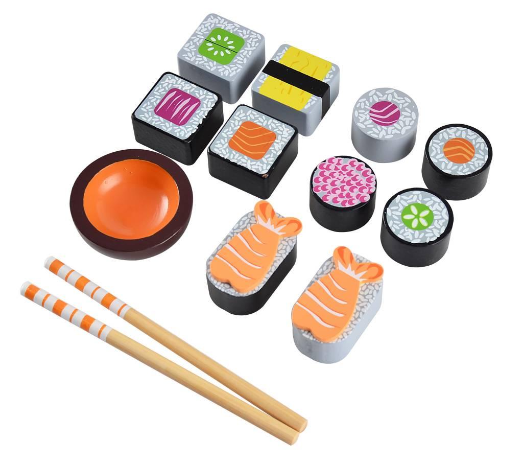 klassiek nieuw ontwerp Verkooppromotie Magni Houten sushi set,3j+
