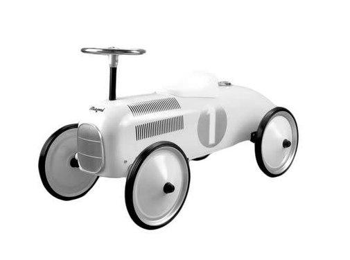 Magni Retro car, white-12m+