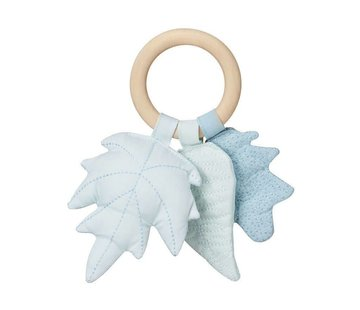 CamCam Rattle, blue leaves