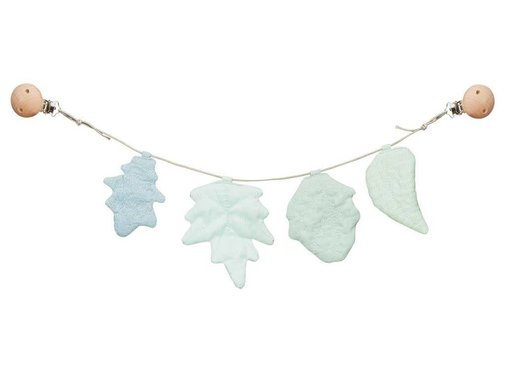CamCam Pram Chain, blue leaves