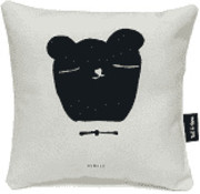 Ted&Tone Cushion, bear, grey (small)