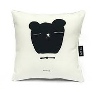 Ted&Tone Cushion, bear, black/white (small)